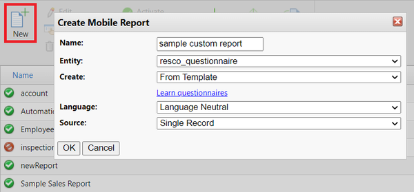 Create mobile report for questionnaire entity.png