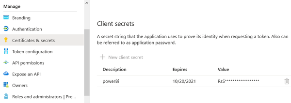 Power bi client secret.png